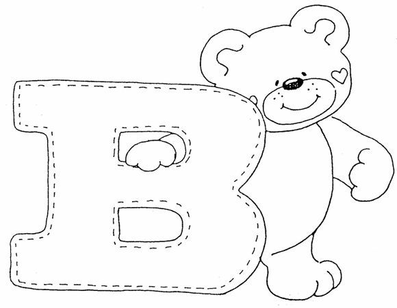 Letra B para Colorear | Descargar gratis