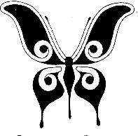 silueta de mariposa