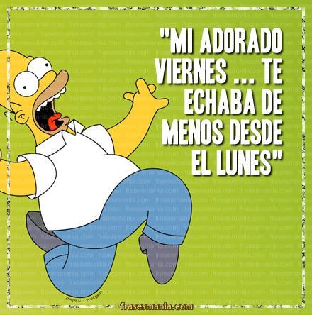 Feliz Viernes Homero