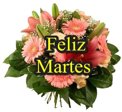 feliz martes con flores