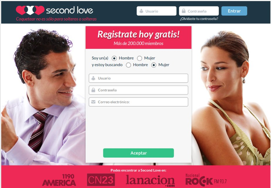 Registrate en Second Love