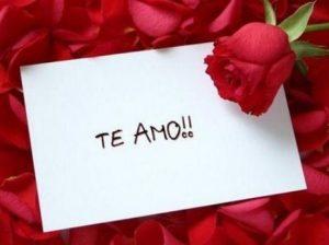 Feliz día amor TE AMO