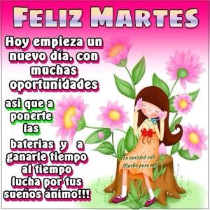 hoy enpeza un dia de nuevas oportunidades feliz martes