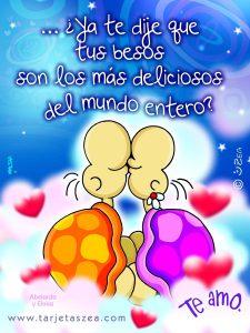 Feliz día amor tus besos son deliciosos